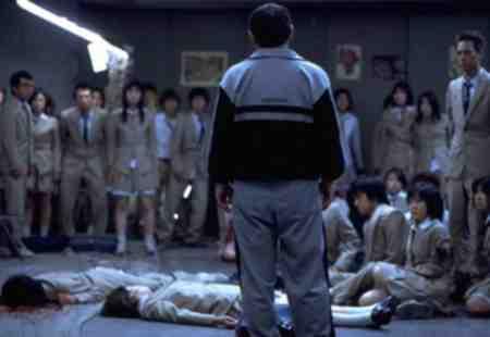 Beat Takeshi Kitano presides over the bloodshed of Battle Royale