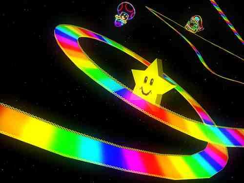 Rainbow Road Mario Kart