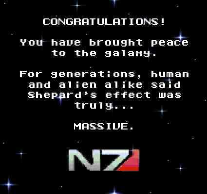 Congratulations Ending Mass Effect 3 Meme