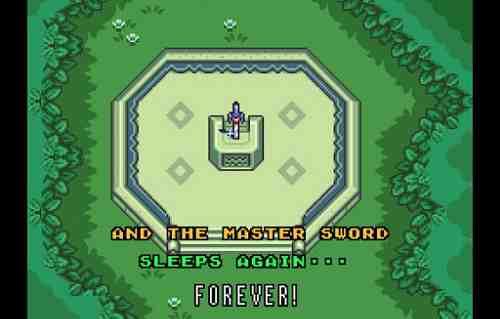 Zelda Master sword Ending