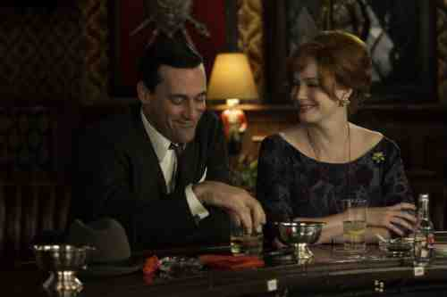Mad Men Joan and Don bar