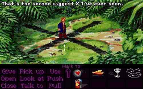 The Secret of Monkey Island 2 Guybrush at the X
