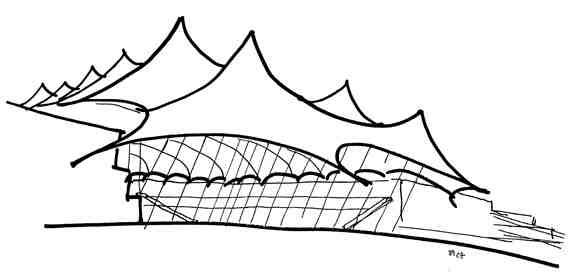 Denver Int'l Airport Sketch
