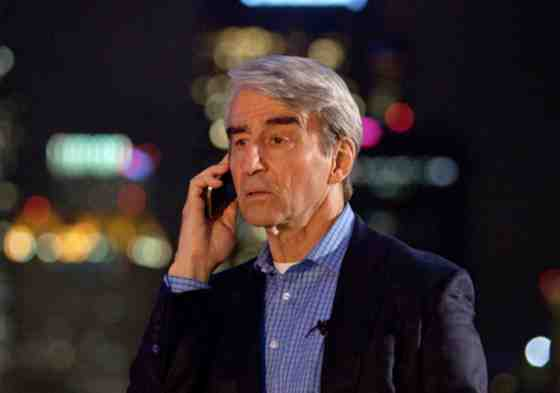 Charlie Skinner (Sam Waterston) getting an interesting phone call.