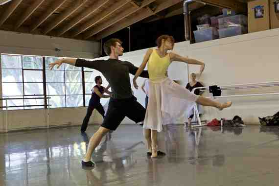 Rehearsal still: Smuin Ballet in Cold Virtue (Hougland)
