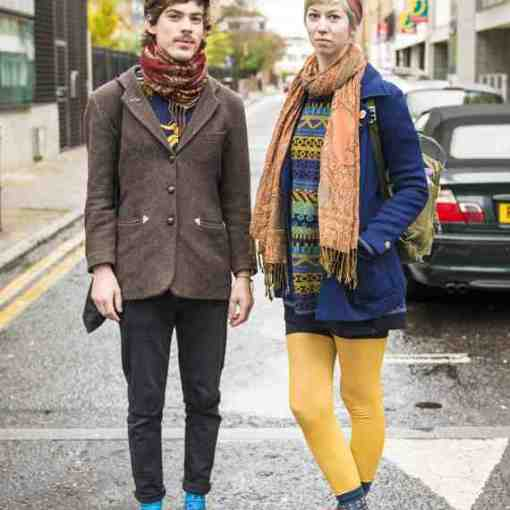 CLR Street Fashion: Johan and Sara, London 1