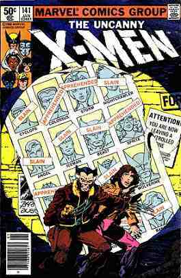 The Cover for X-Men 141, Days of Future Past Part 1