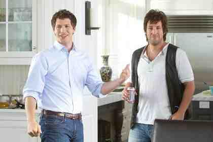 THAT'S MY BOY, from left: Andy Samberg, Adam Sandler, 2012.