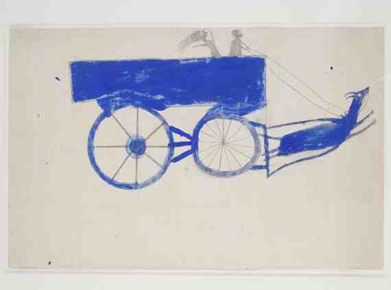 Runaway Goat Cart, Bill Traylor