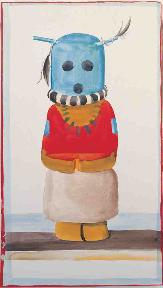 Georgia O'Keeffe: Blue-Headed Indian Doll