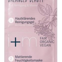 i+m Balanced Beauty 2in1 Reinigung Maske Reinigungsgel Feuchtigkeitsmaske Unreine Haut Mischhaut