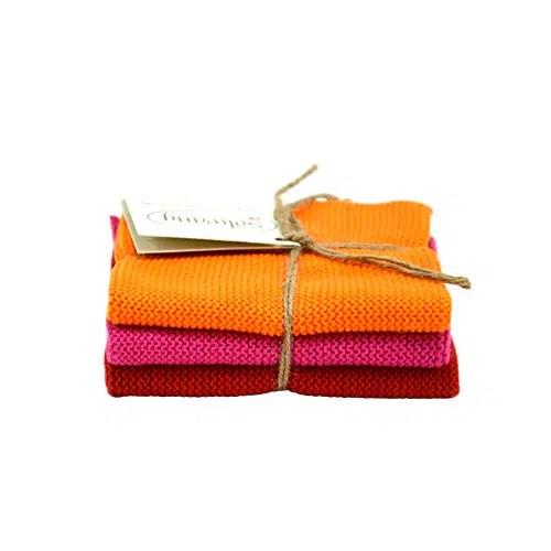 Solwang Wischtücher 3er Set Orange Rot