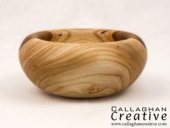 Ash/olive ash vessel, 13cm dia, 6.5cm high