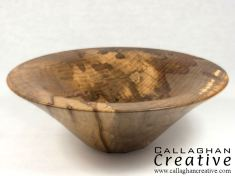 Picture-beech bowl, 18cm dia, 7cm high [sold]