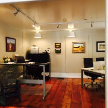 The historical and award winning Lambertville office provides the perfect showcase to feauture artists work.