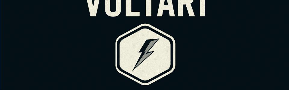 Voltari logo, a lightning bolt inside a hexagon.