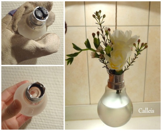 diy vase ampoule