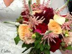 Quelques touches de bordeaux pour M&P: leur mariage burgundy