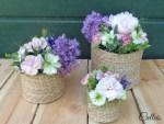 De l'osier et des fleurs, comment réaliser un centre de table romantique - DIY