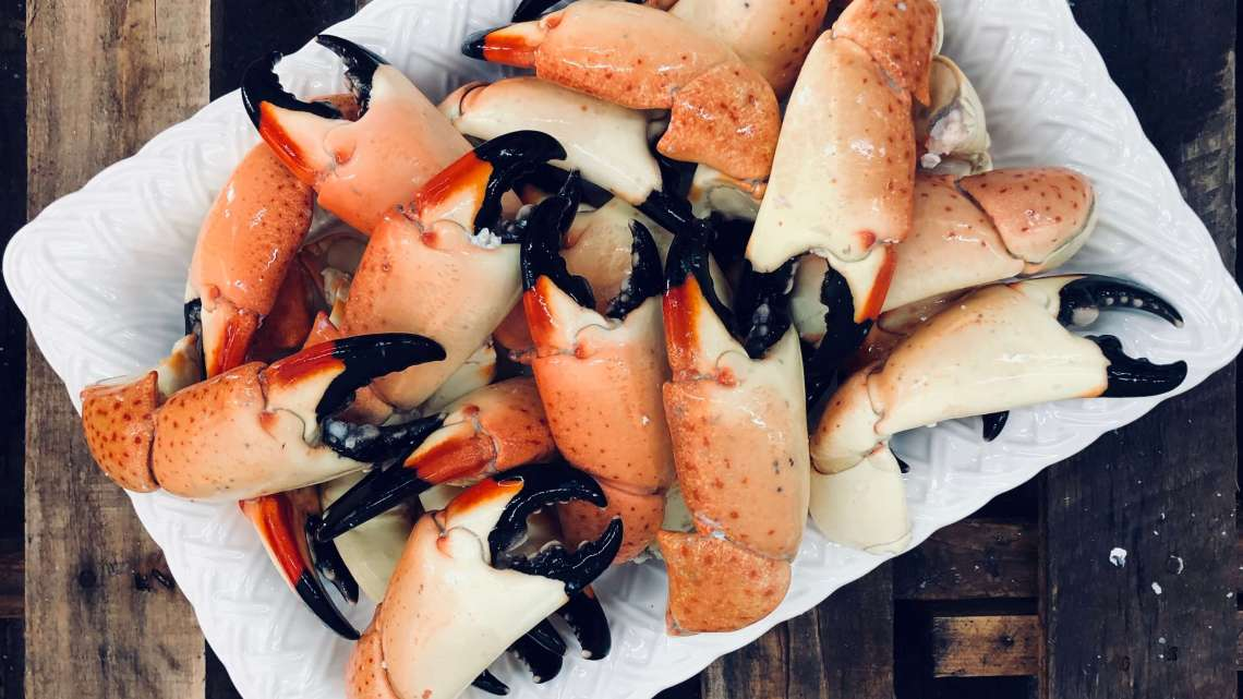 Photo of Fresh Florida Stone Crabs on a dish