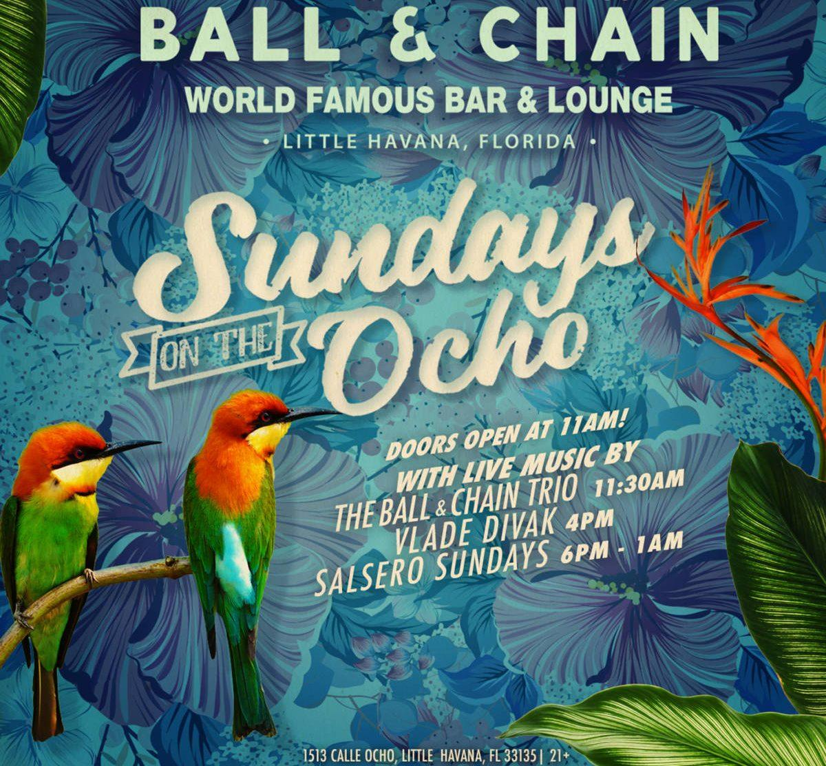 Sundays on the Ocho promotional flyer