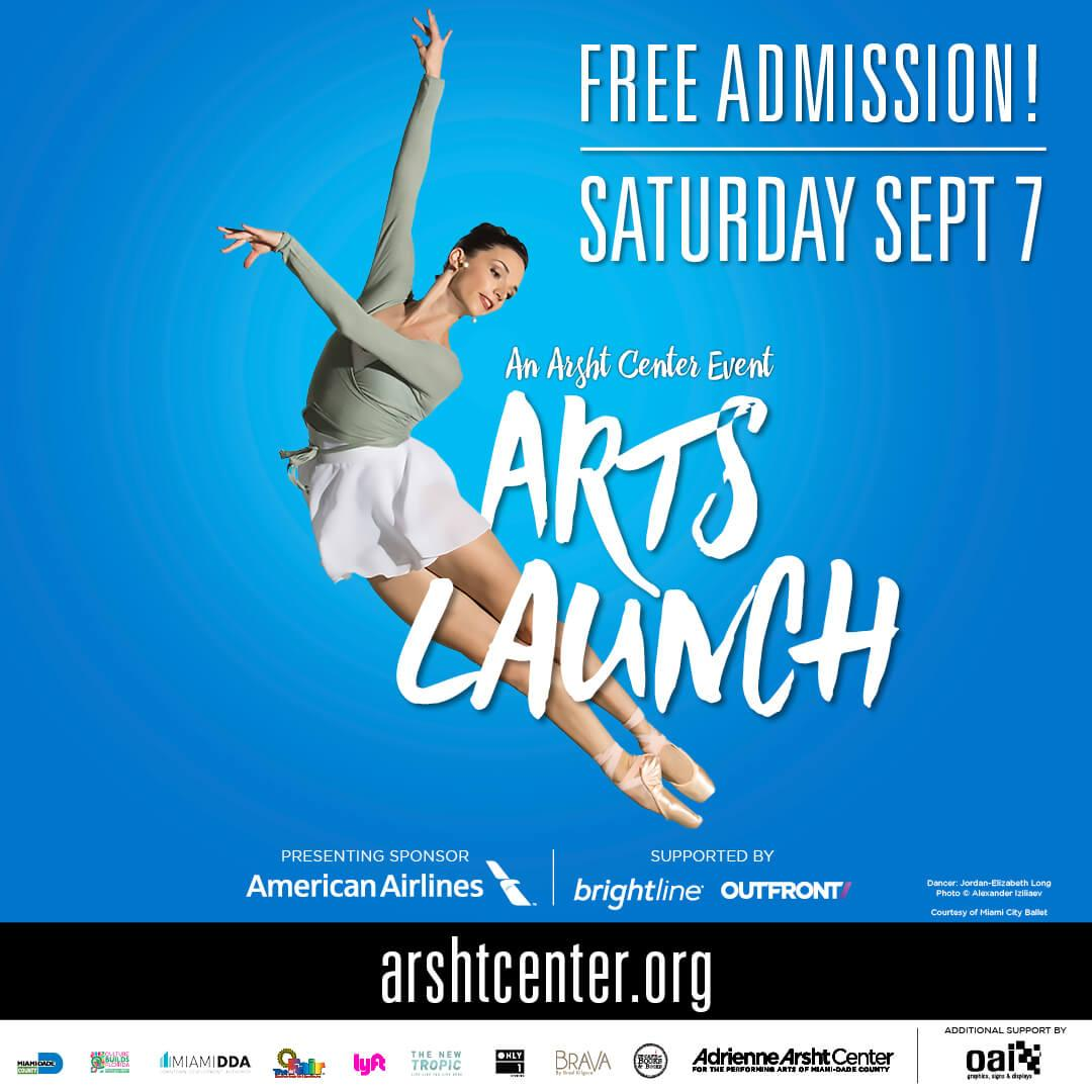 ArtsLaunch CV Partner 1080x1080 v3 - The Arsht Center to Host ARTSLAUNCH 2019
