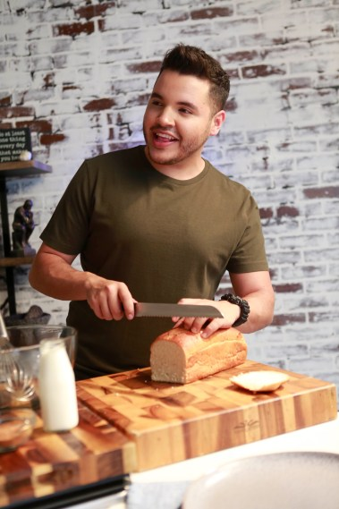 Chris 3 853x1280 - Chef Chris Valdes and his Three-Cheese Chorizo Dip