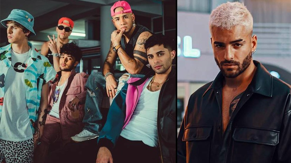 Maluma and CNCO