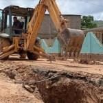 Rehabilitan colector caído en Charallave