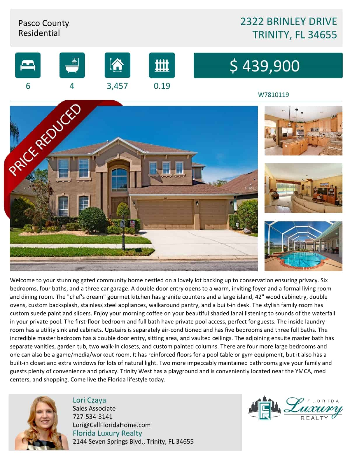 Huge Price Reduction Trinity West Fl Call Florida Home