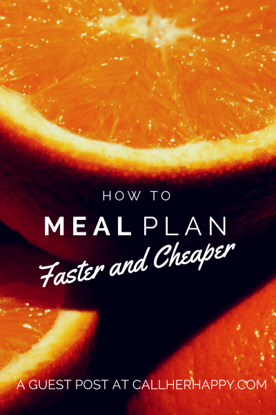 "Find out how to meal plan faster and cheaper with this simple guide to meal planning. With a little meal prep and shopping know how, you can be a pro. I love the second tip. In our house, we call it ""Shop the U."""
