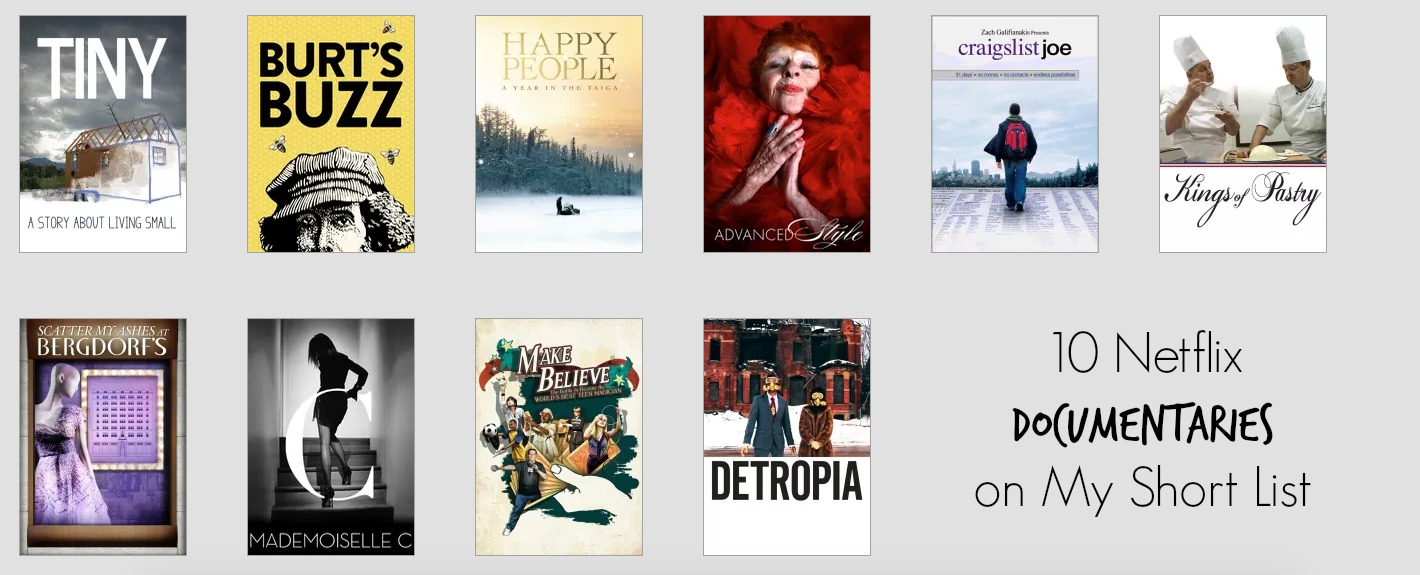 10 netflix documentaries on my short list #streamteam -