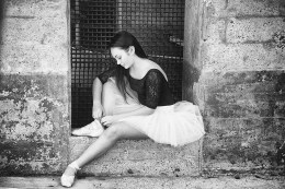 Ballerina in repose
