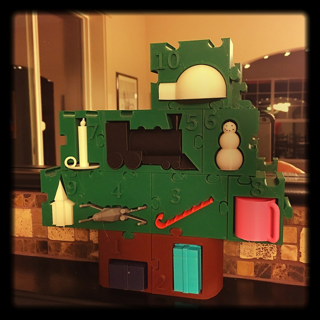 3D-Printed Advent Calendar 2015