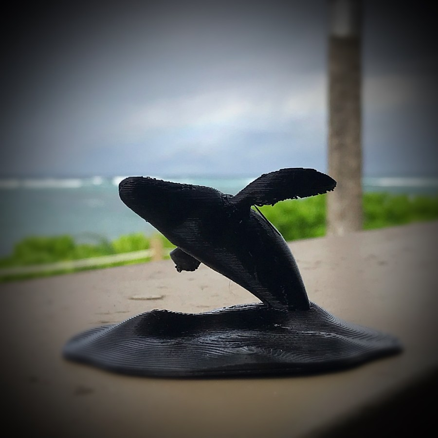 3D Print of a Breaching Humpback Whale