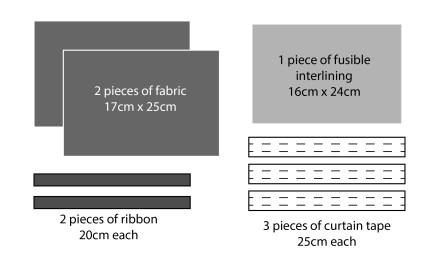 Materials and sizes for the nib holder roll