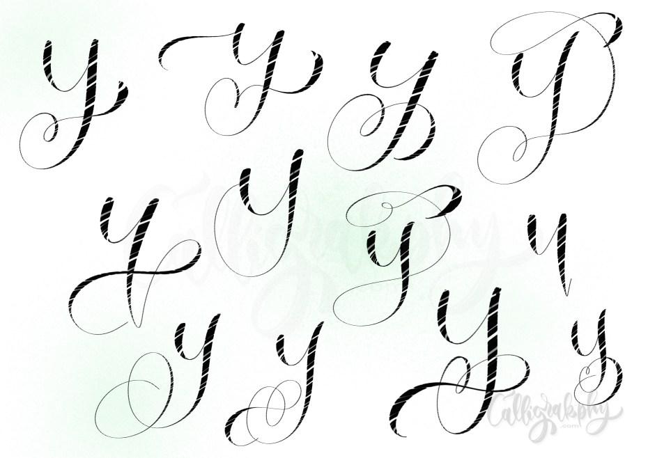 hand lettering variations