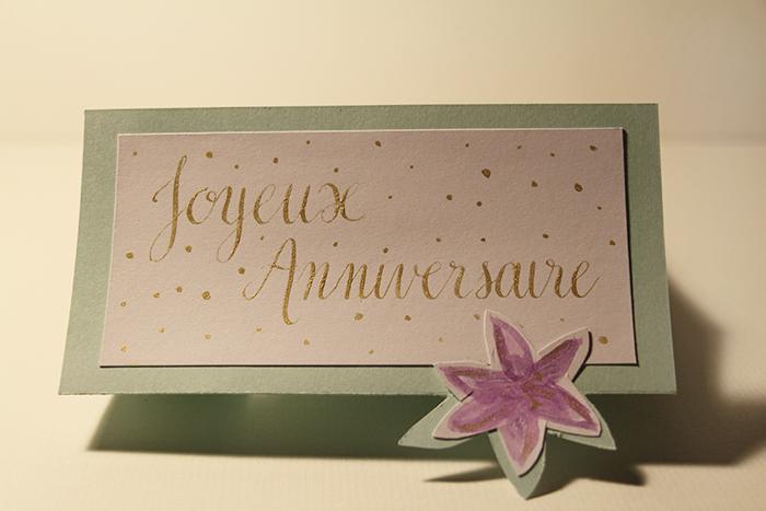 Calligraphique - Carte pliée fleurie - final
