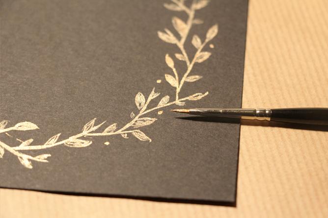 Carte Joyeux Noël Calligraphique - Points