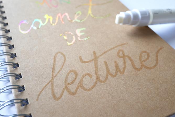 feuilles transfert métallisées La Petite épicerie x calligraphique