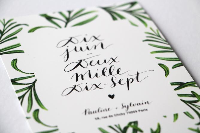 Papeterie mariage - calligraphique