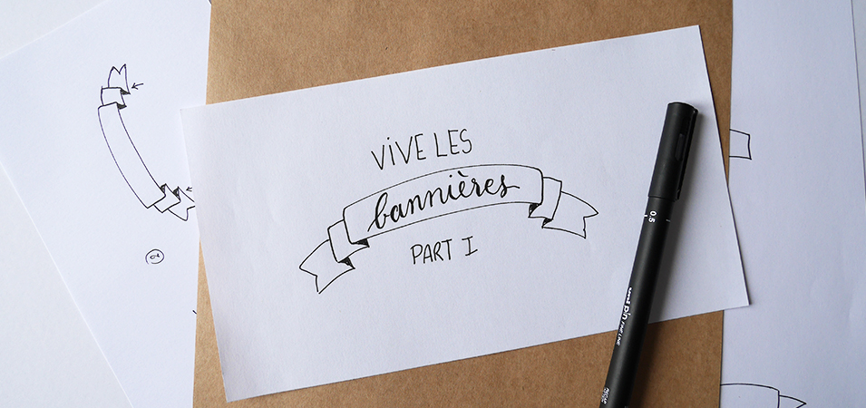 Bannière lettering bujo technique - calligraphique