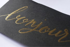 Test brush embossing - embossing powder