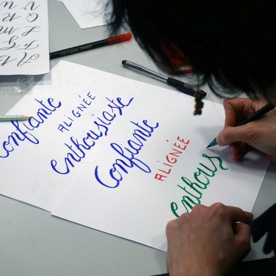 atelier calligraphie HEC Au féminin - Calligraphique