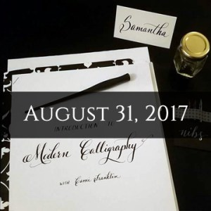 Intro To Modern Calligraphy August 31