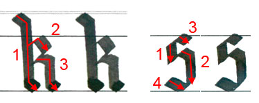 """Letters """"k"""" and """"s"""""""