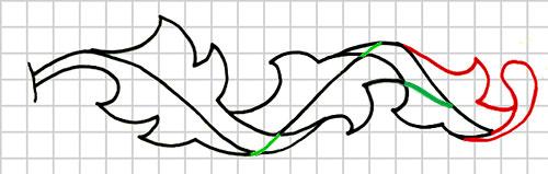 Step 7: Completing Third Leaf