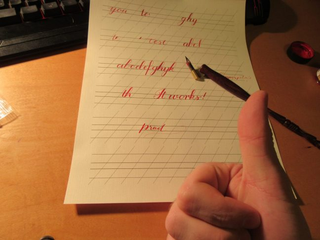 Modern calligraphy works