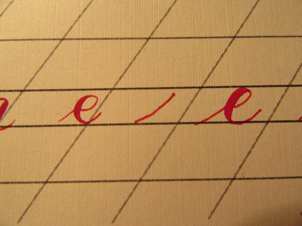 Modern Calligraphy Lowercase e Demonstration