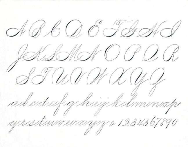 Modern Calligraphy - Spencarian